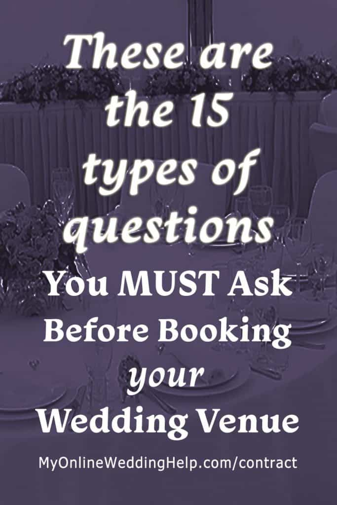 These are the 15 types of questions you must ask before booking your wedding venue.