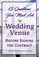 15 Questions to Ask a Wedding Venue