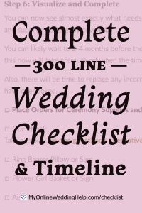 image regarding Printable Wedding Checklist Timeline called Your Comprehensive Wedding ceremony Record Timeline. 300+ Products and solutions. - My