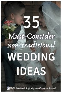 Non traditional wedding ideas you must consider