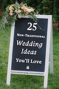 35 Non-traditional Wedding Ideas You May Not Have Thought About 2