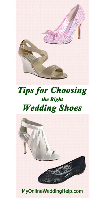 8 considerations when picking out your wedding shoes and how to take each into account when deciding. It's about more than style.