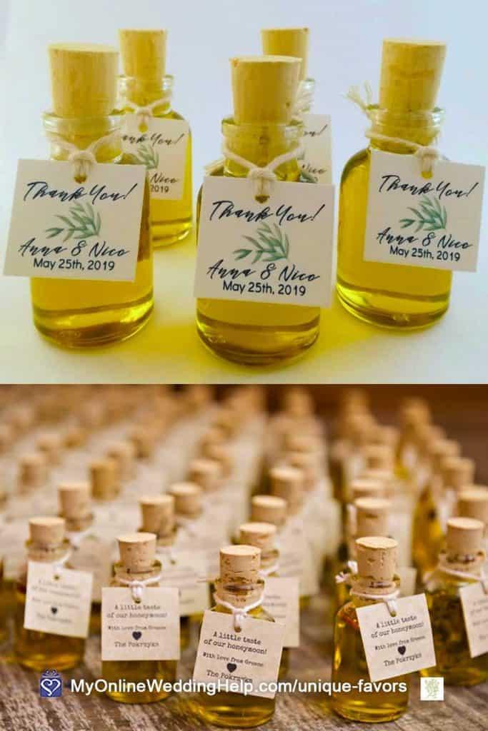 Infused Olive Oil Wedding Favors