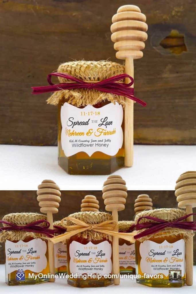 Little Honey Jar Wedding Favors