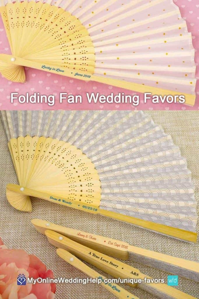 Folding Fan Wedding Favors