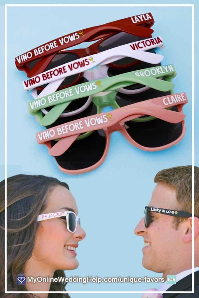 Personalized Wedding Sunglasses Favors