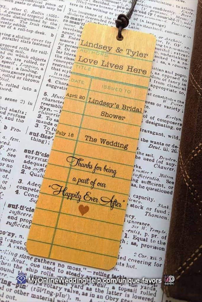 Bookmark Wedding Favors