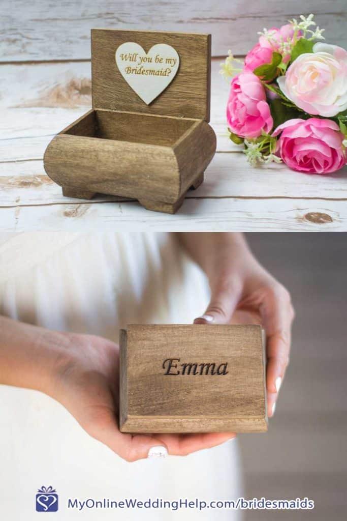 Wooden Proposal Box