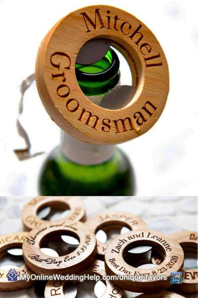 Personalized Round Bottle Opener Favor