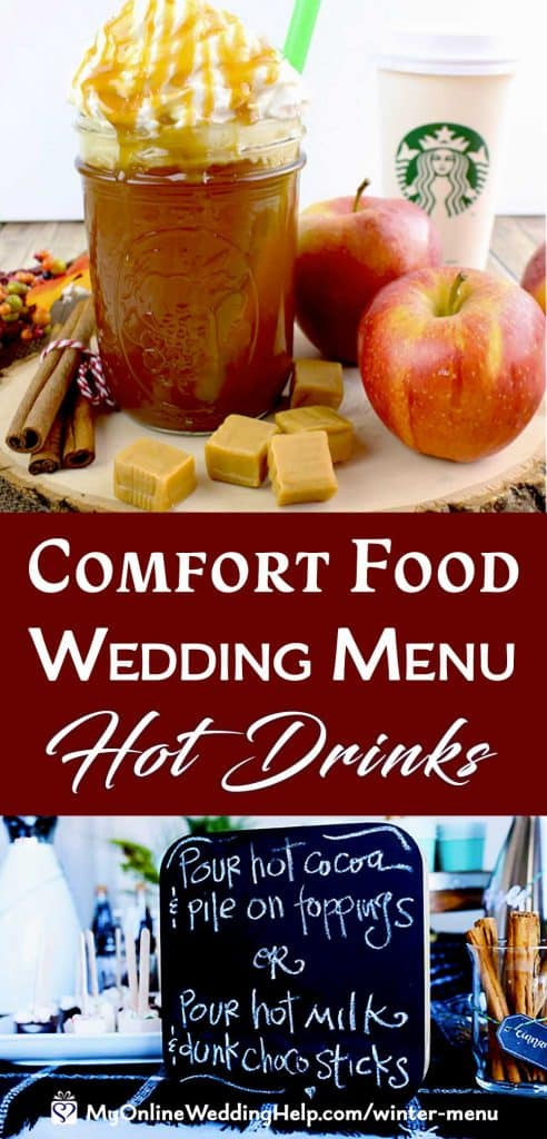 Comfort Food Wedding Menu. Hot Drinks.