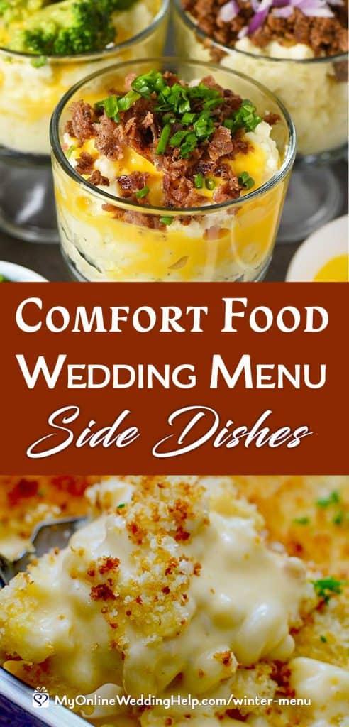Comfort Food Wedding Menu. Side Dishes.