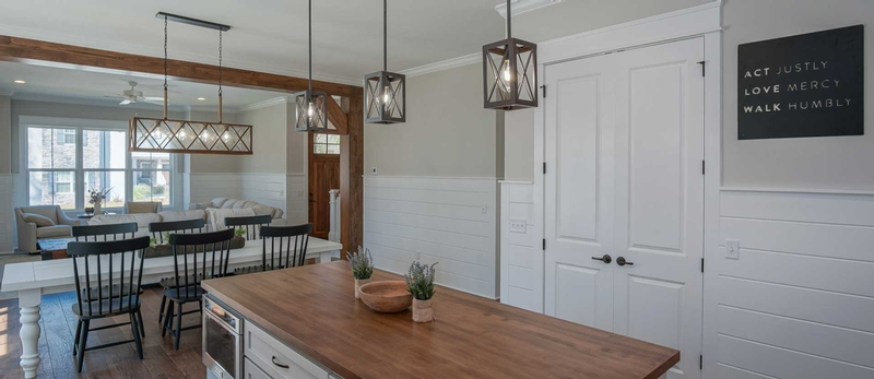 A Moxley Homes Interior - Dining and Living Areas