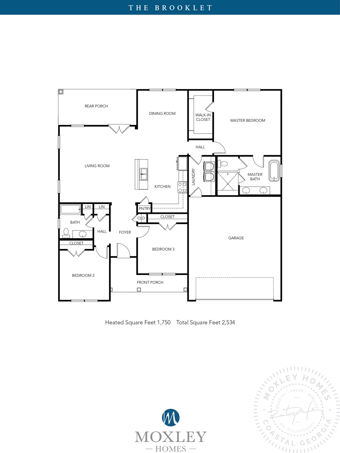 carriage gate plantation, grace crossing, The Brooklet floor plans