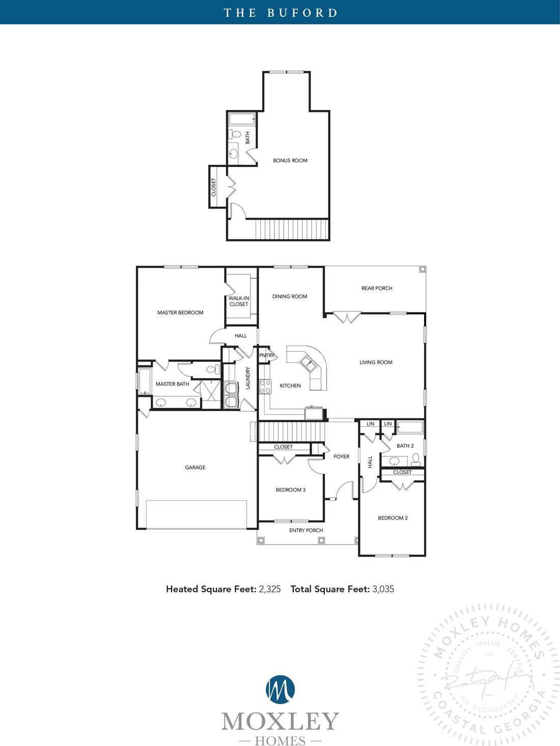 carriage gate plantation, grace crossing, The Buford floor plans