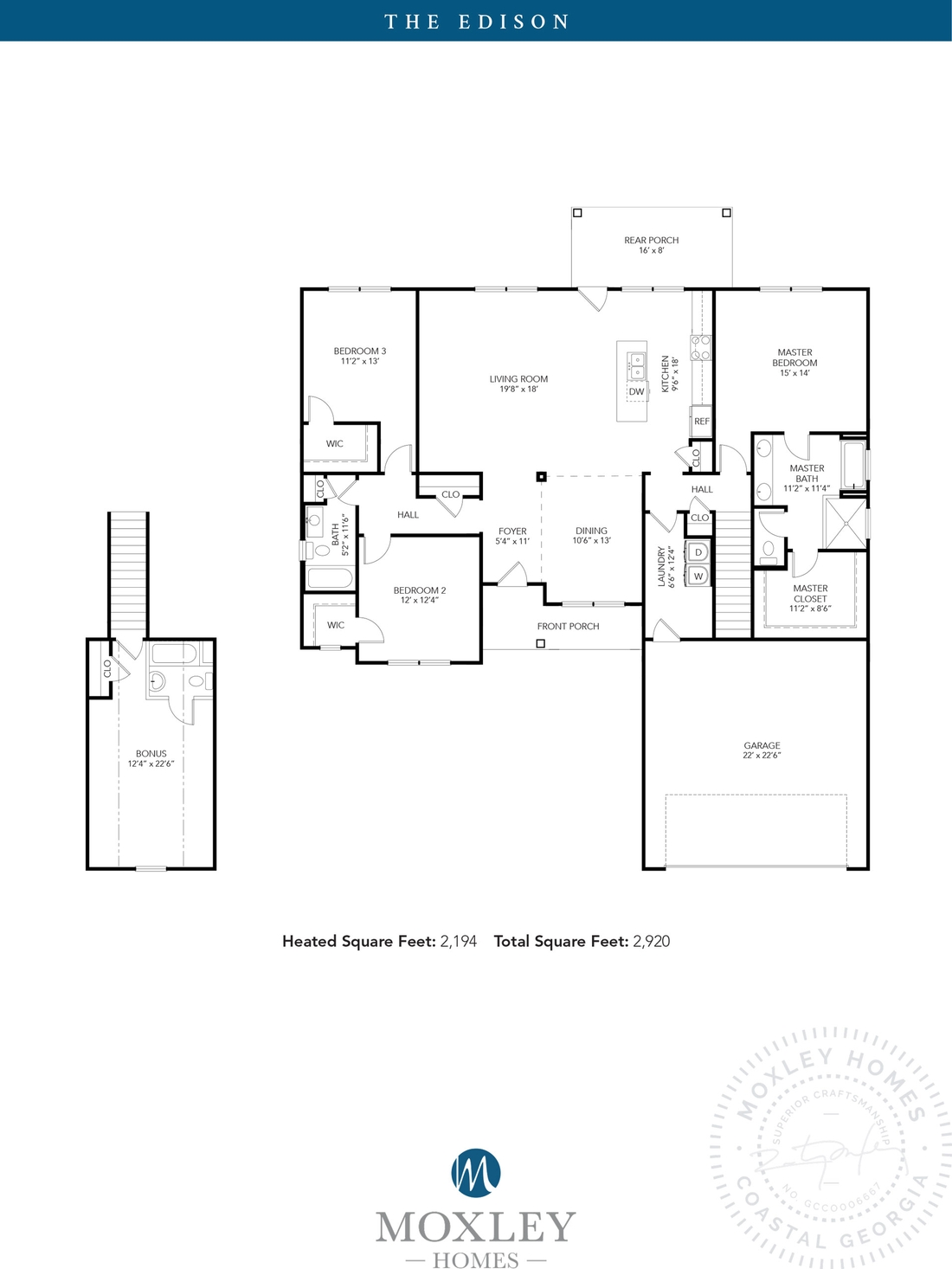 carriage gate plantation, grace crossing, The Edison floor plans