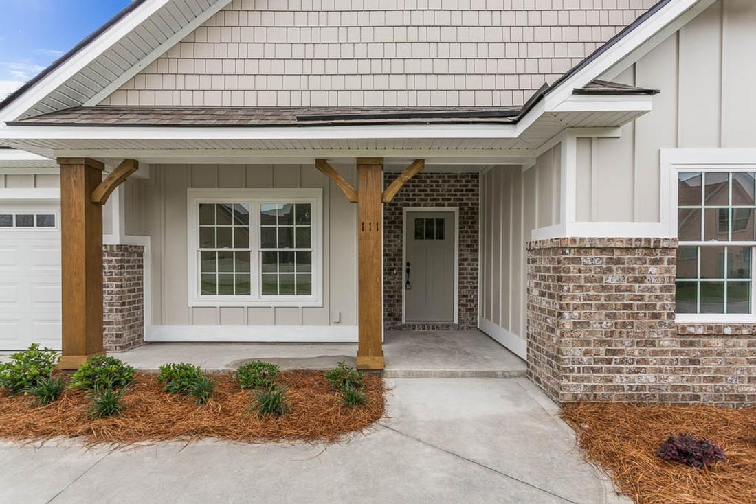 front porch, front door