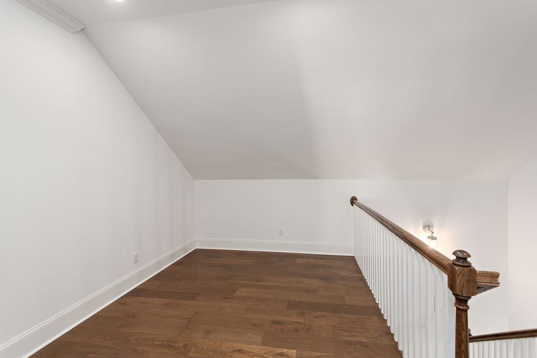 upstairs, spacious