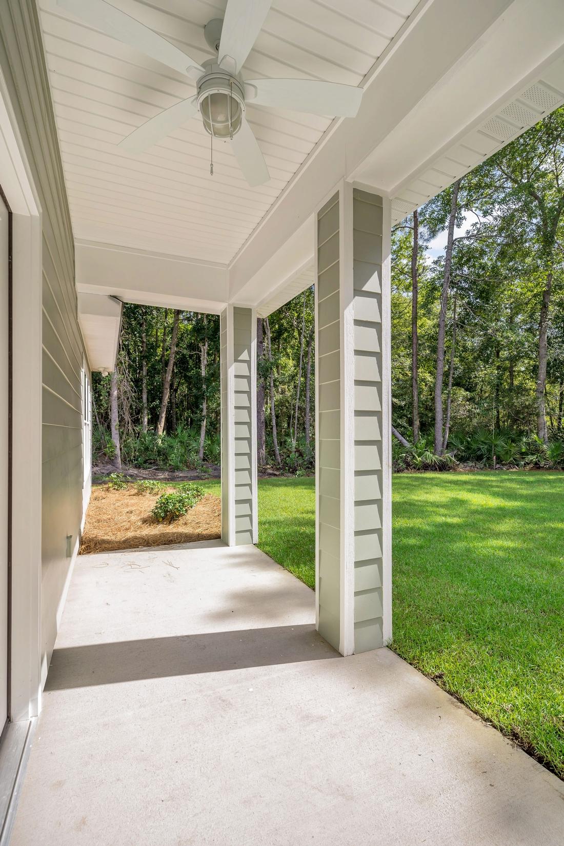 porch, backyard