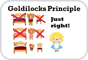 goldilocks principle and cognitive skills