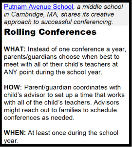 rolling parent teacher conferences