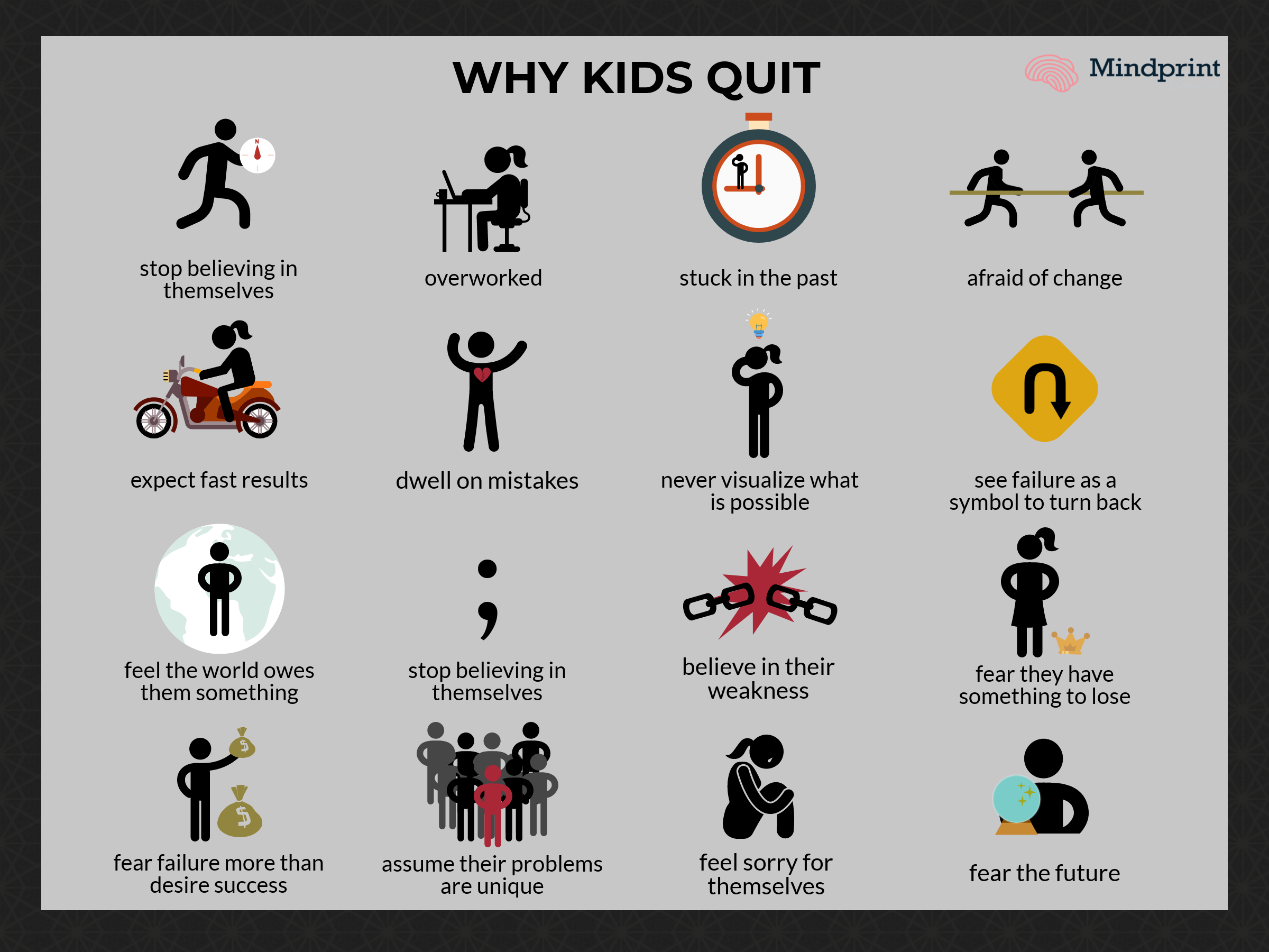 why kids quit