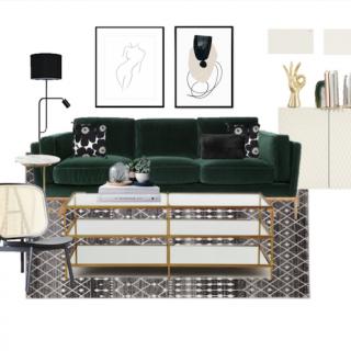 A Mid-Century Living Room under $6,000