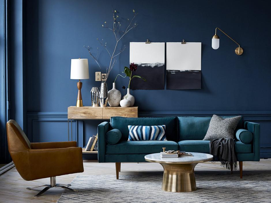 Walls in bleu