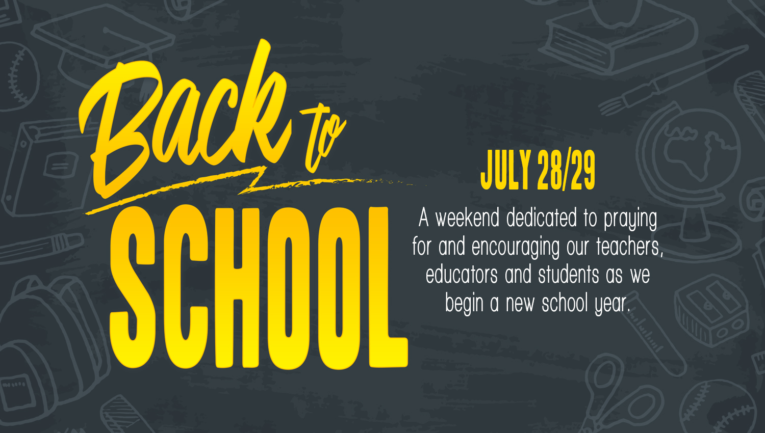 Back to School Special Weekend Services