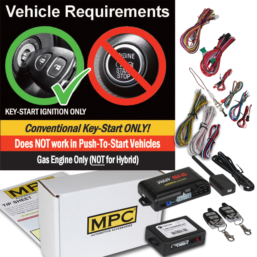 Details about Complete Remote Start / Keyless Entry Kit For 2000-2007 Ford  Taurus -w/Bypass