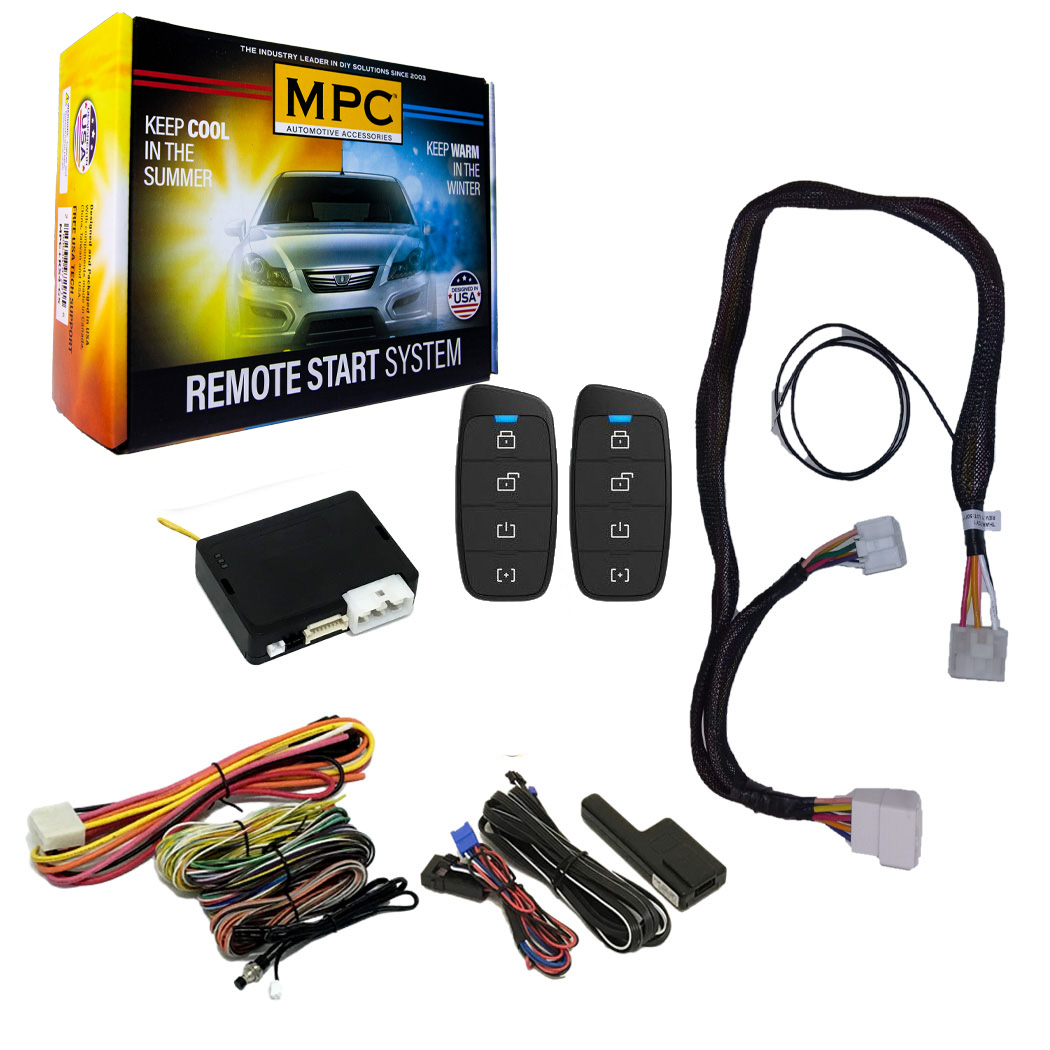 Remote Start Compatible with Toyota Prius 2010-2015 Push-to-Start Models Includes Factory T-Harness for Clean Installation