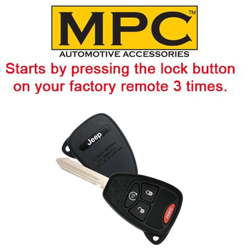 MPC Complete Plug /& Play 1-Button Remote Start Kit for 2007-2018 Jeep Wrangler with Key-to-Start Firmware Preloaded