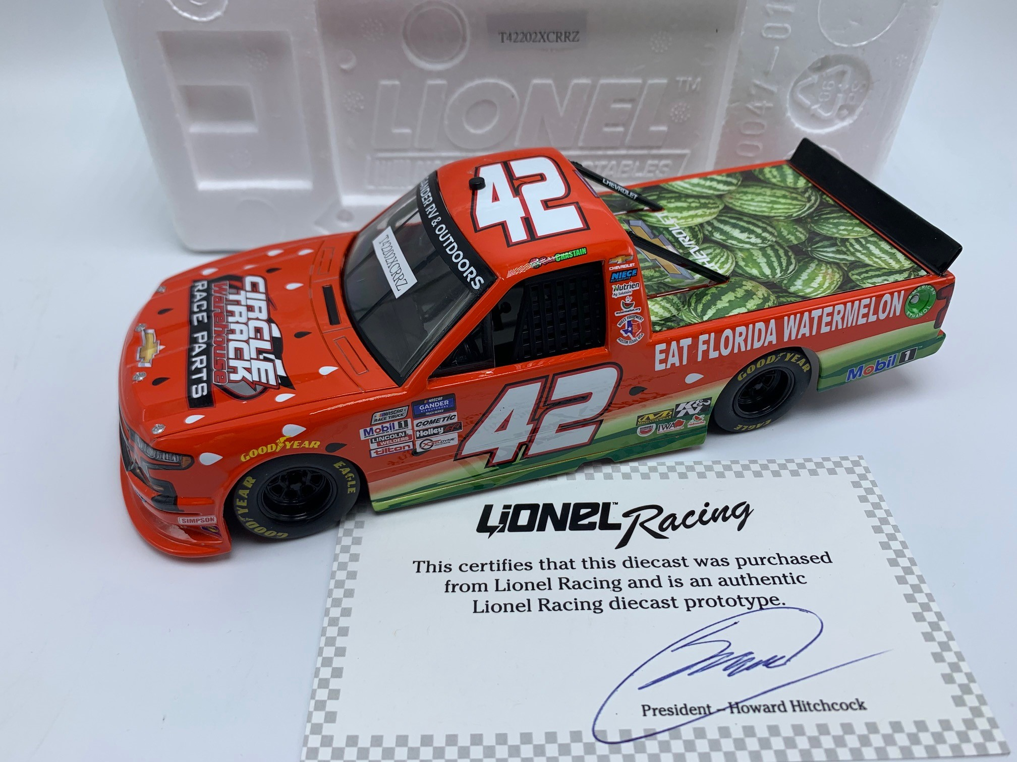 ROSS CHASTAIN 2020 CIRCLE TRACK WAREHOUSE/WATERMELON 1:24 ARC TRUCK PROTOTYPE