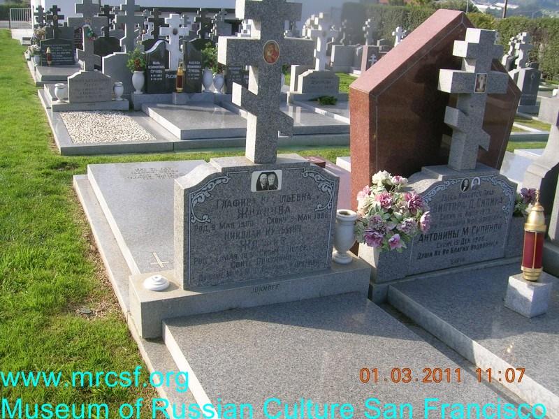 Grave/tombstone of JDANOFF Николай Кузьмич