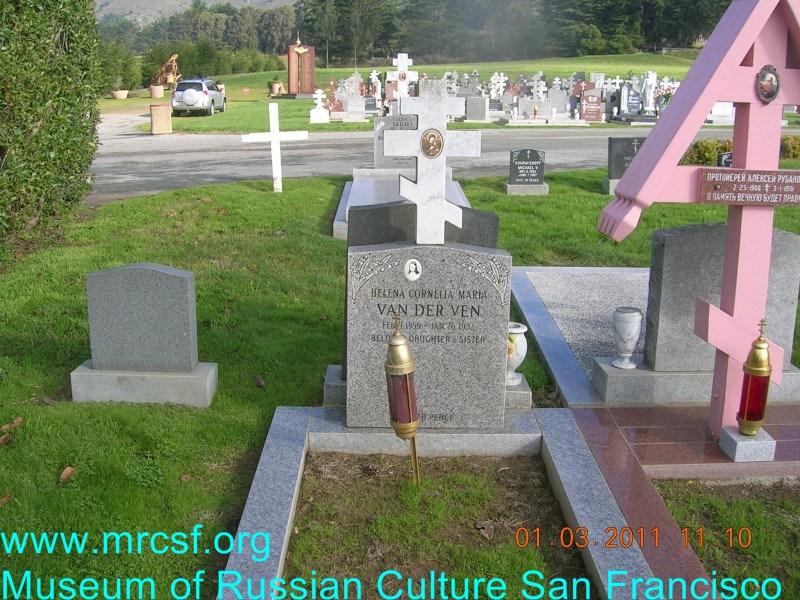 Grave/tombstone of VAN DER VEN Helena Cornellia Maria