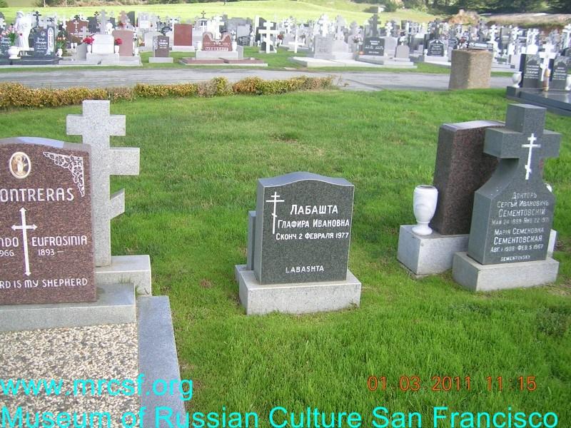 Grave/tombstone of LABASHTA Глафира Ивановна