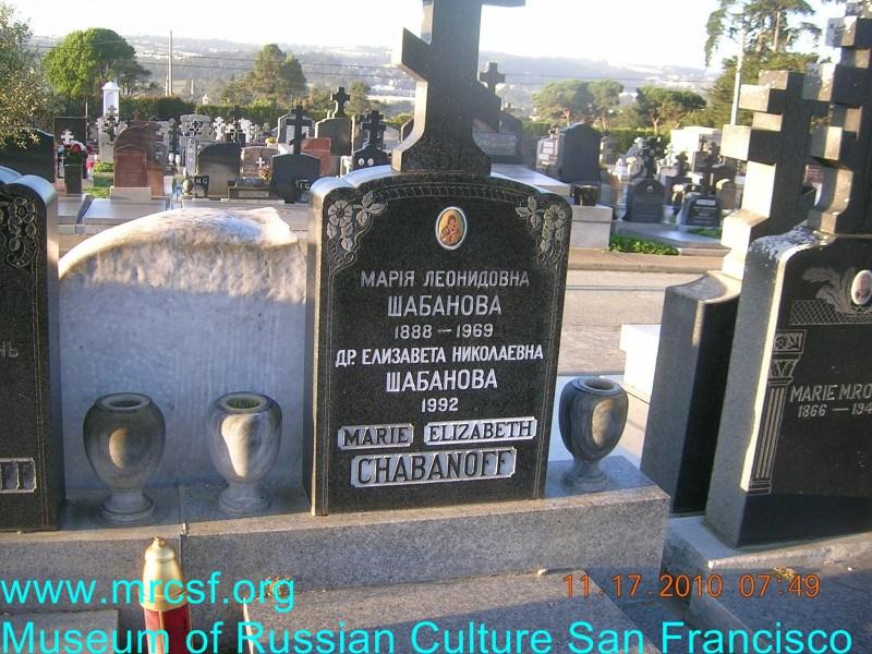 Могила/надгробие ШАБАНОВА Елизавета Николаевна