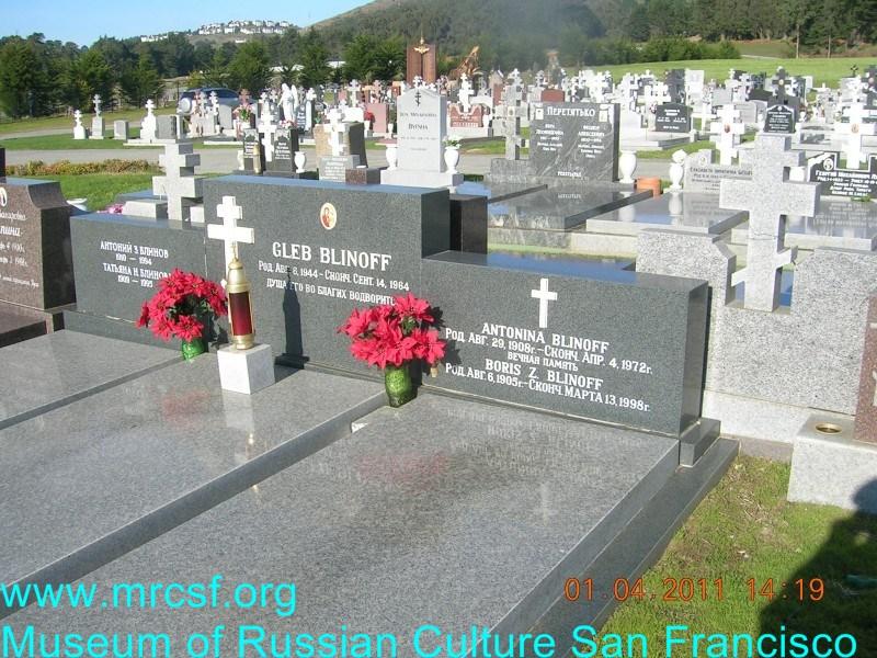Grave/tombstone of BLINOFF Антонина