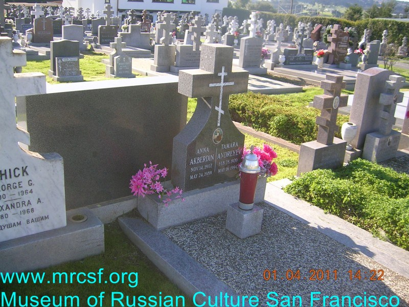 Grave/tombstone of AKBERDIN Anna