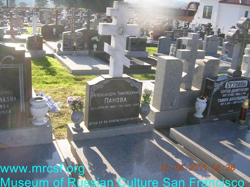 Grave/tombstone of PANOFF Алексанра Тимофеевна