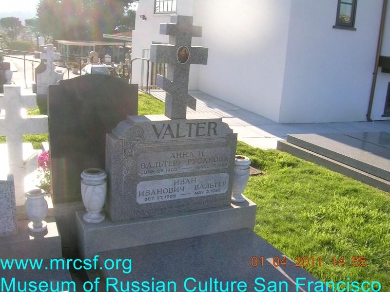 Grave/tombstone of VALTER Иван Иванович