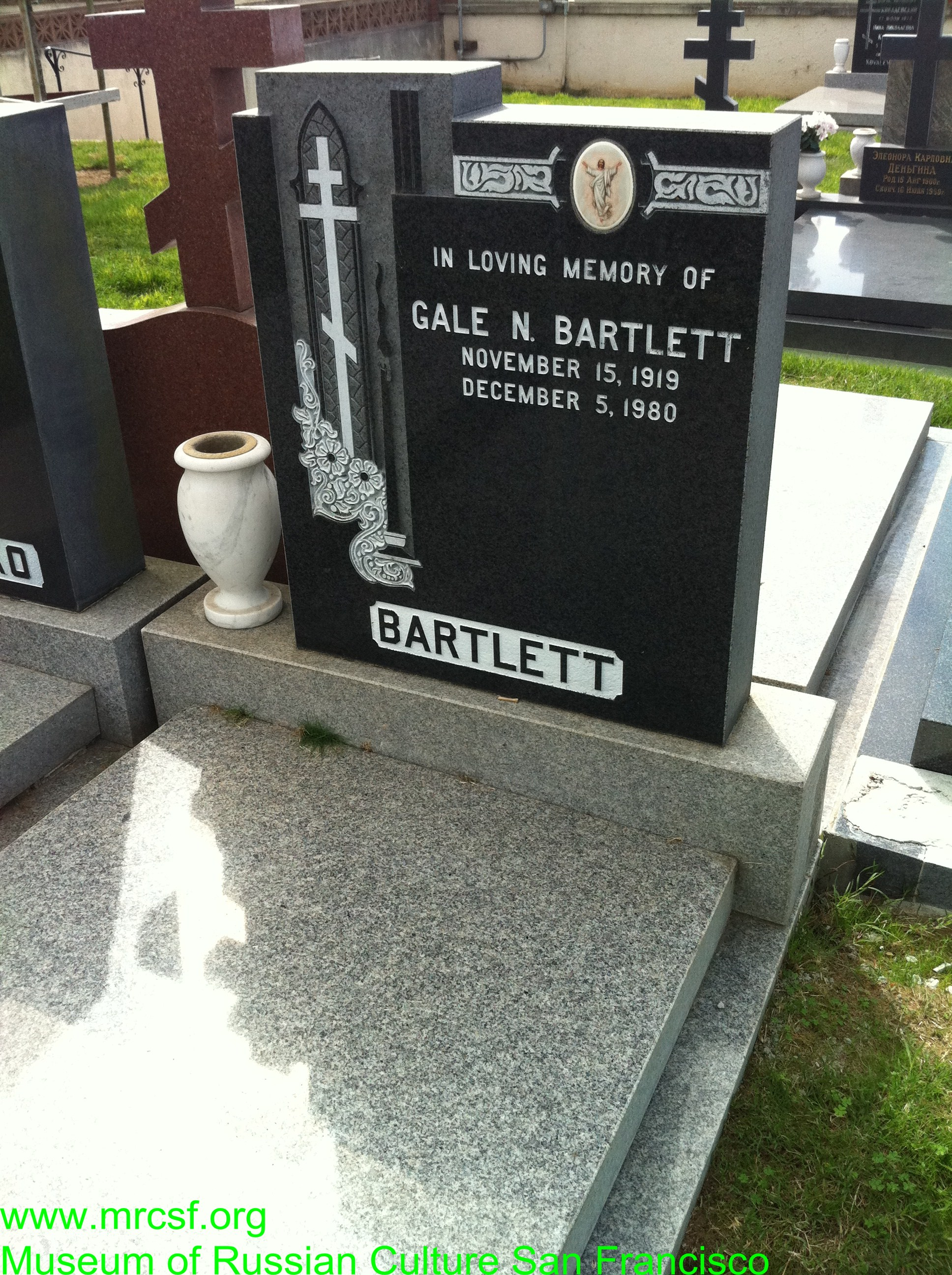 Grave/tombstone of BARTLETT Gale N.