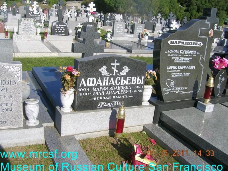 Grave/tombstone of AFANASIEV Иван Андреевич