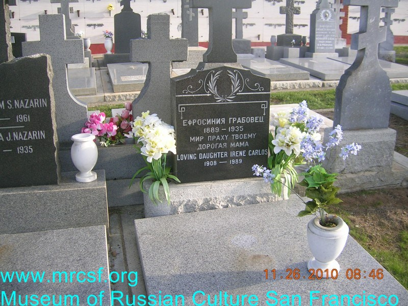 Могила/надгробие КАРЛОС Ирина