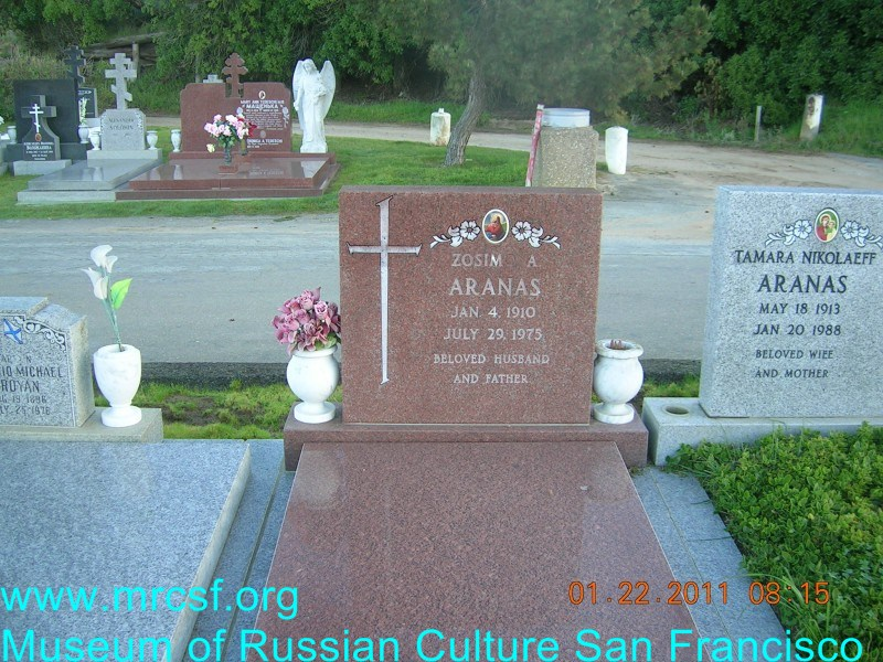 Grave/tombstone of ARANAS Зосимо А.