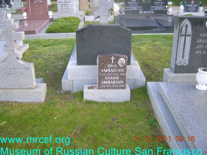 Grave/tombstone of AMBARIAN Knarik