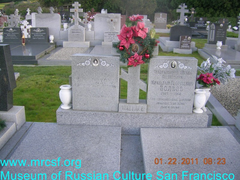Grave/tombstone of WALLACE Николай Георгиевич