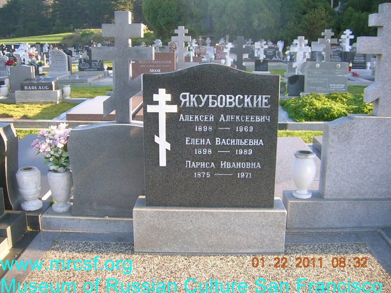 Grave/tombstone of IAKUBOVSKY Алексей Алексеевич