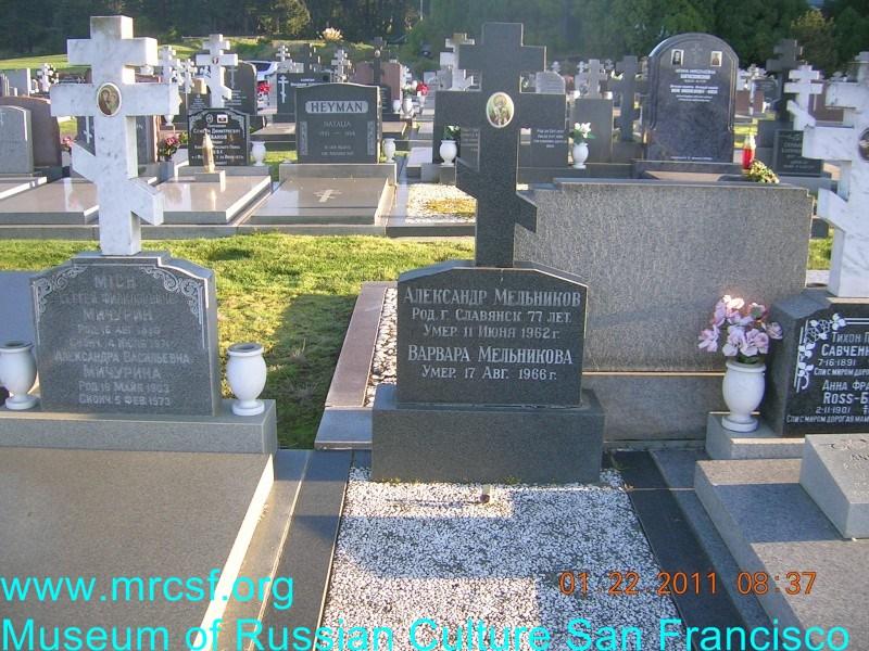 Могила/надгробие МЕЛЬНИКОВ Александр