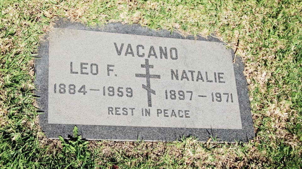 Grave/tombstone of VACANO Наталия / Natalie