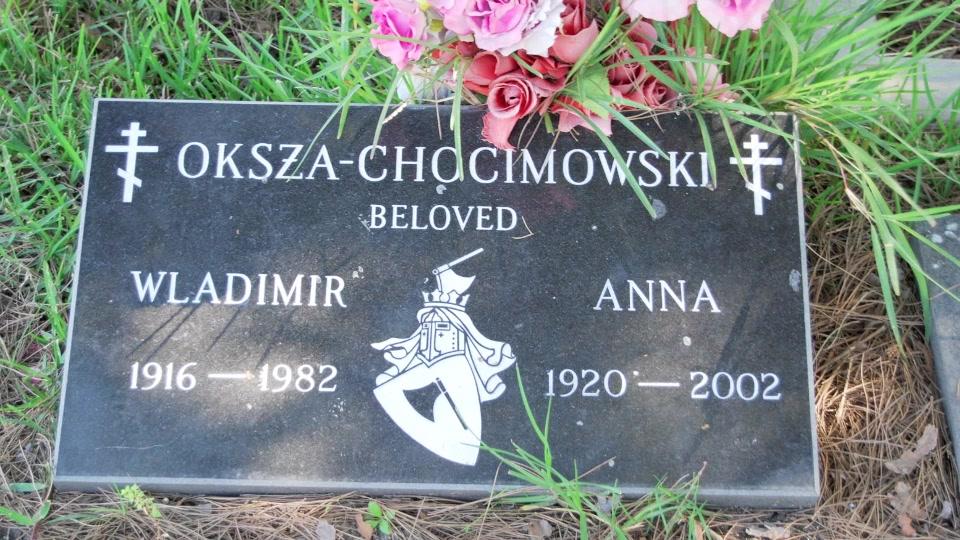 Grave/tombstone of OKSZA  CHOCIMOWSKY Anna